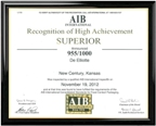 AIB Certificate of Achievement